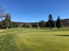 This is a picture from the North Course to show the charred hillsides (compare to shots from my North Course review).