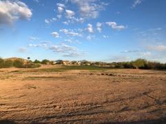 1st approach over a desert wash.