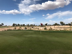 Side view of 12th green.