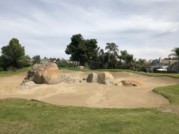 Cool bunker in front of 7th green.