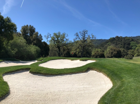 Greenside bunker view on 11th.
