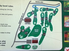 Course map to show unique 11-hole routing.