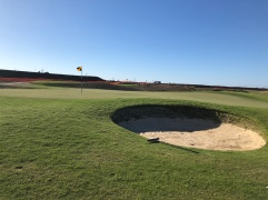 Closer view of the pot bunker on the 12th.