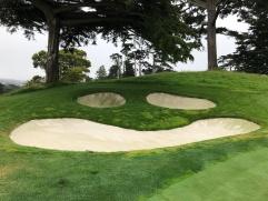 Beware the smiley face bunkers behind the 2nd green. Not as friendly as they look.