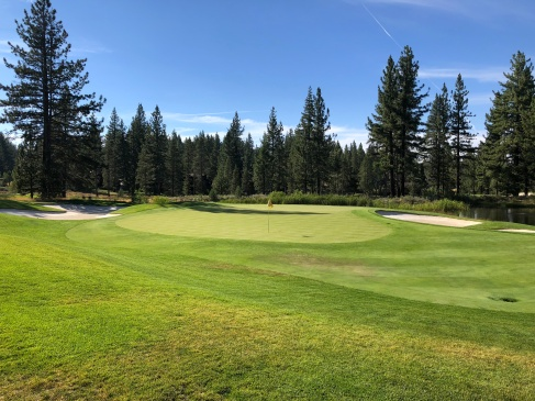 Side view of 1st green.