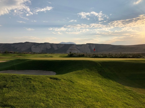 Side view of 8th green.