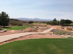 Back tee view of par-3 16th.