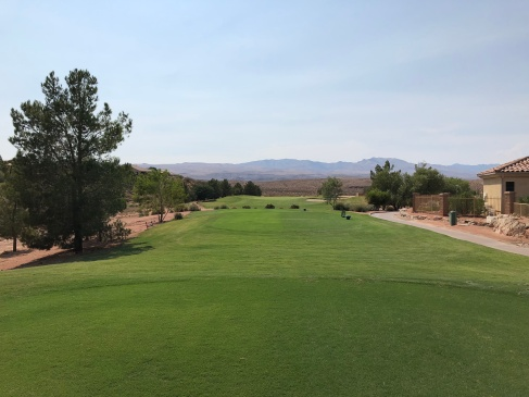 Side/forward tee view of par-3 16th.