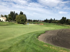 Side view of 15th green.