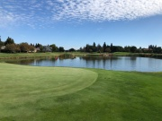 Behind 16th green 17th in the background.