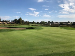 Closer view of the unique 2nd green complex.
