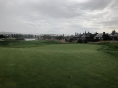 10th green in the rain!