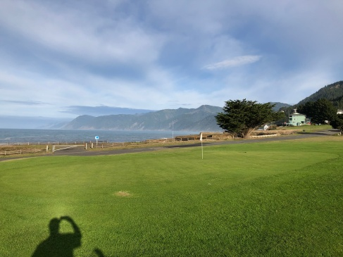 Behind 5th green with cove view.
