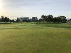 Behind 10th green and best course view of Levi's Stadium.