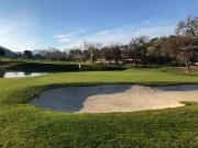 Side view of 18th green.
