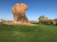 """The Monument"" rock in 3's fairway."