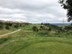 2nd tee (from the tips, showing silver tees where other group is teeing off).